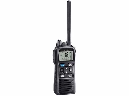 Icom M73 Handheld VHF - 6 Watts - IPX8 Submersible - Black