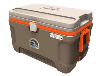 Igloo Super Tough STX Sportsman 54 Quart Cooler - Brown/Tan/Orange