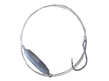 Inshore Custom Tackle 5030 5/0 Hook 30lb Flourocarbon Eel Rigs
