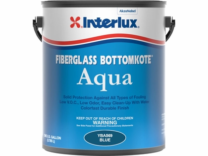 Interlux Fiberglass Bottomkote Aqua ? Waterbased - Blue