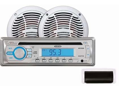Jensen CPM530 AM/FM/CD Stereo Combo Package w/ Speakers & Front Cover