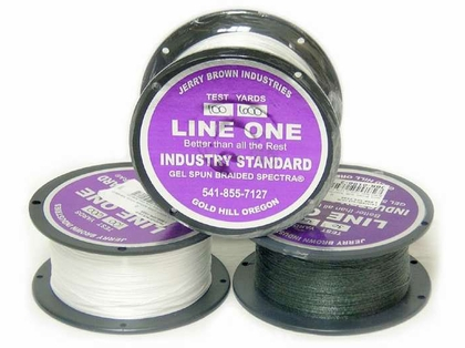 Jerry Brown Line One Non-Hollow Spectra Braid 1200yds 80lb Green