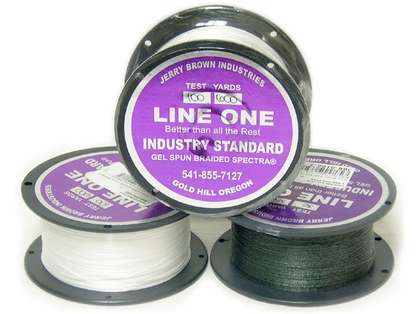 Jerry Brown Line One Non-Hollow Spectra Braided Line 150yds 10lb