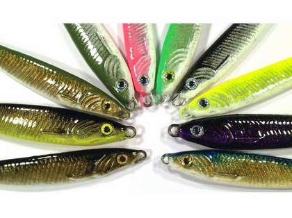 Jetty Ghost 1.6oz Minnow Lures #1 Hook Black Silver White