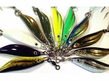 Jetty Ghost 2oz Mullnut Lures #2 Hook Olive Silver White