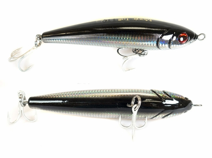 Jigging World Magic Tail Sinking Black Silver Stick Bait