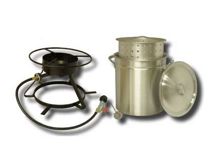 King Kooker 5012 Boiling/Steamer Outdoor Cooker Package