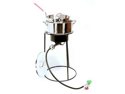 King Kooker Tall Fish Fryer Stainless Steel