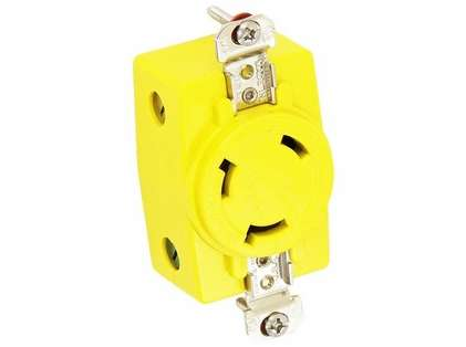 Hubbell #328DCR 3-Wire Receptacle