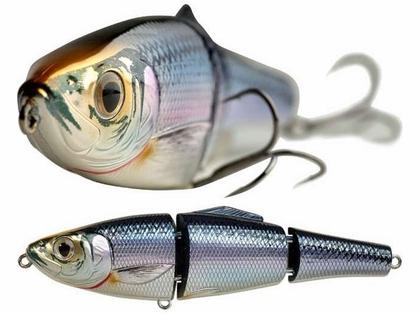 LIVETARGET BBH165FS Blueback Herring Swimbait Lure 205 Silver/Bronze