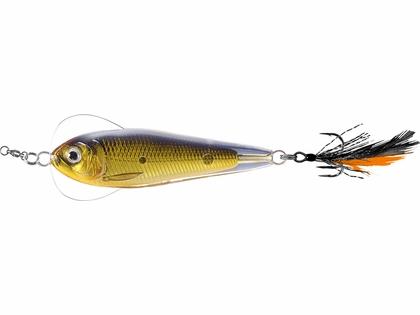 LIVETARGET Flutter Sardine Jigging Spoon - 1-3/4in - Gold/Black