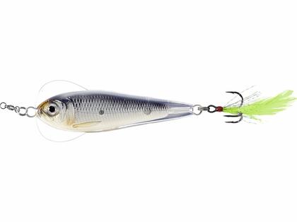 LIVETARGET Flutter Sardine Jigging Spoon - 1-3/4in - Glow/Black