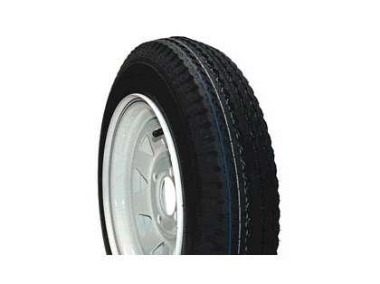Load Star 30700 530-12 K353 Bias 12'' Tire/Wheel Assembly - White Rim