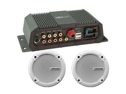 Lowrance 000-12301-001 SonicHub2 Marine Audio Server w/ 6.5in Speakers