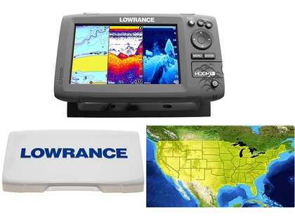 Lowrance HOOK-7 Combo w/ HDI Transducer, Cover, and Lake Insight