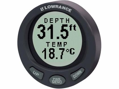 Lowrance 47-94 LST-3800 In-Dash Digital Depth/Temp Guage w/ Transducer