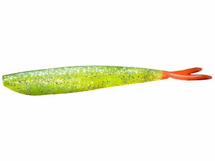 Lunker City 4 in Fin-S Lures Chartreuse/Firetail