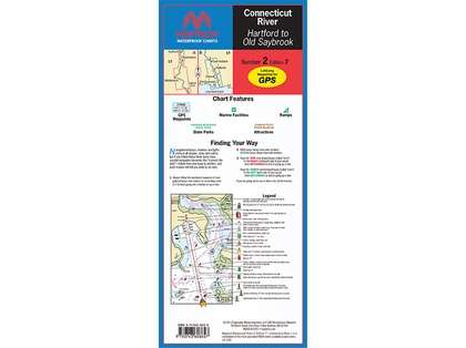 Maptech WPC002 Waterproof Chart - Connecticut River