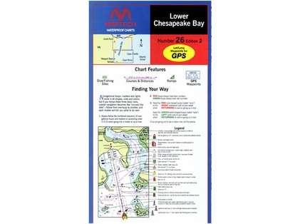 Maptech WPC026 Waterproof Chart - Lower Chesapeake Bay