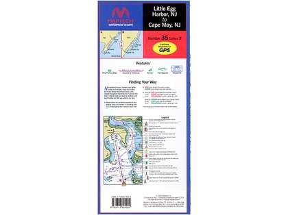 Maptech WPC035 Waterproof Chart - Little Egg Harbor to Cape May, NJ