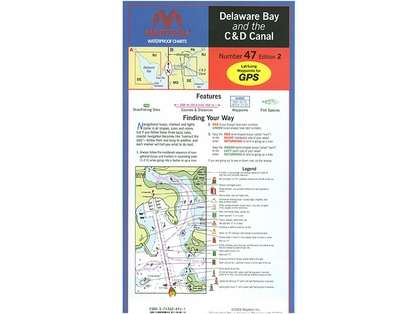 Maptech WPC047 Waterproof Chart - Delaware Bay and the C & D Canal