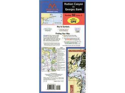 Maptech WPC050 Waterproof Chart - Hudson Canyon to Georges Bank