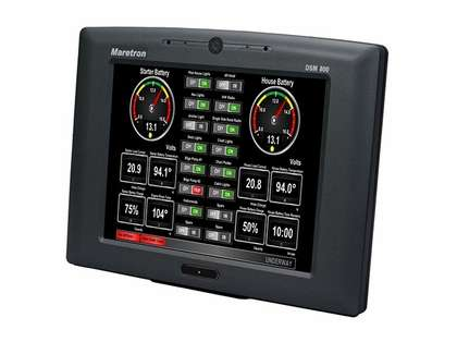 Maretron DSM800 Vessel Monitoring and Control Indoor Display