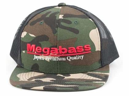 Megabass Logo Snapback Hat Woodland Camo