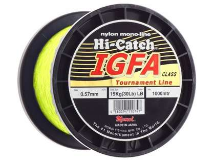 Momoi Hi-Catch IGFA Nylon Monofilament 50Lb 1980Yd Spool