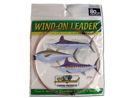 Momoi 90017 Fluorocarbon Wind On Leader 90lb 1.05mm Clear