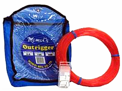Momoi Outrigger Monofilament Line Kit 400lb 50yds Bright Red