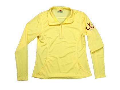 Montauk Women's Performance 1/4 Zip Shirt Yellow