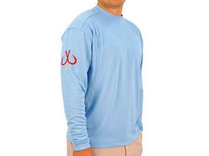 Montauk Tackle Crew Neck MTCdryprotect Shirt Hamptons Sky Blue