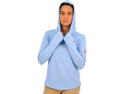 Montauk Women's Performance Hoodie Sky Blue