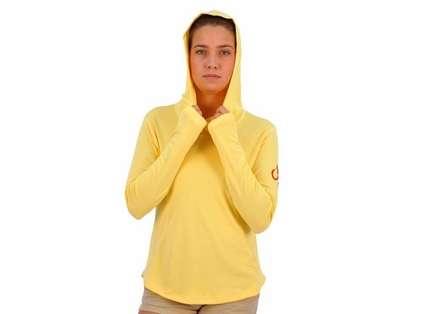 Montauk Women's Performance Hoodie Yellow - Size Medium