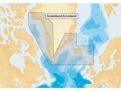 Navionics+ MSD/NAV+20XG/ROW Greenland & Iceland - microSD