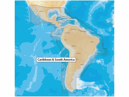 Navionics MSD/NAV+3XG Caribbean & South America - microSD
