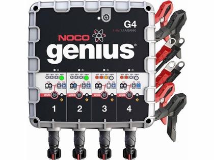 NOCO G4 Genius 4.4 Amp 6V/12V UltraSafe Battery Charger - 4-Bank