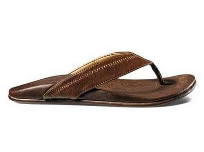 OluKai Hiapo Men's Sandal Teak/Teak