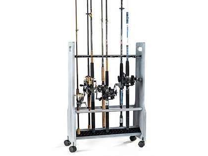 Organized Fishing DFR-024 Offwhite Distressed Rolling Floor Rack