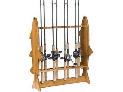Organized Fishing FFR 16-Rod 'Fish' Floor Rack