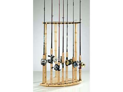 Organized Fishing PCR 12-Rod Pine Corner Rack
