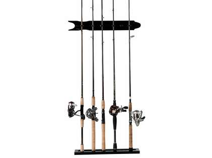 Organized Fishing SBMWR 8-Rod Modular Black Wall Rack