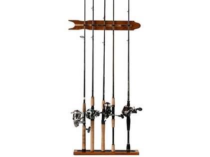 Organized Fishing SOMWR 8-Rod Modular Oak Wall Rack