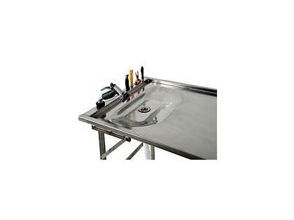 Organized Fishing SST-001SK Gray Stainless Steel Fillet Table