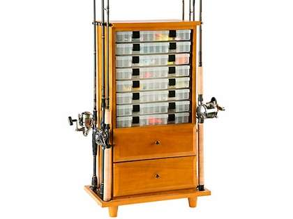 Organized Fishing TDC-008 Two Drawer Cabinet & Rod Holder