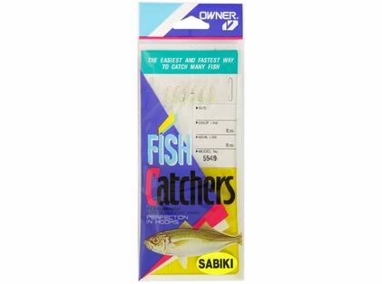 Owner White Hage Fish Skin Sabiki Bait Catcher Rigs 5549-987/12