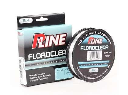 P-Line Floroclear Fluorocarbon Coated Mono Line - 12lb - 300yds