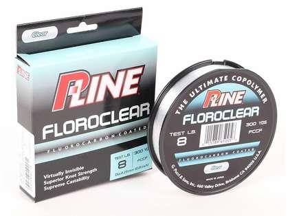 P-Line Floroclear Flourocarbon Coated Mono Line - 300yds 8lb