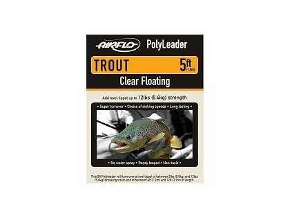 Airflo Trout 10ft PolyLeader Clear Hover